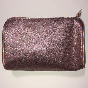 Light Pink Glittery Makeup Bag